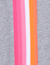 Womens Rainbow Stripe Sweatpants - Nimbus Grey