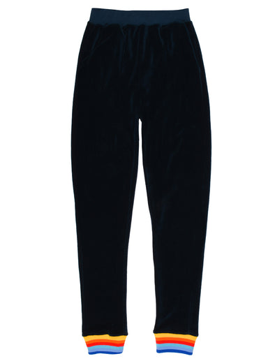 Women's Velour Sweatpants - Dress Blue