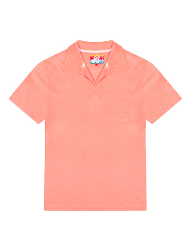 Men's Terry Polo Shirt - Fuzzy Peach