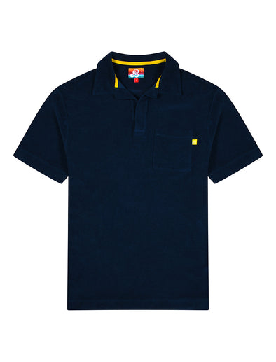 Mens Terry Polo Shirt - Dress Blue