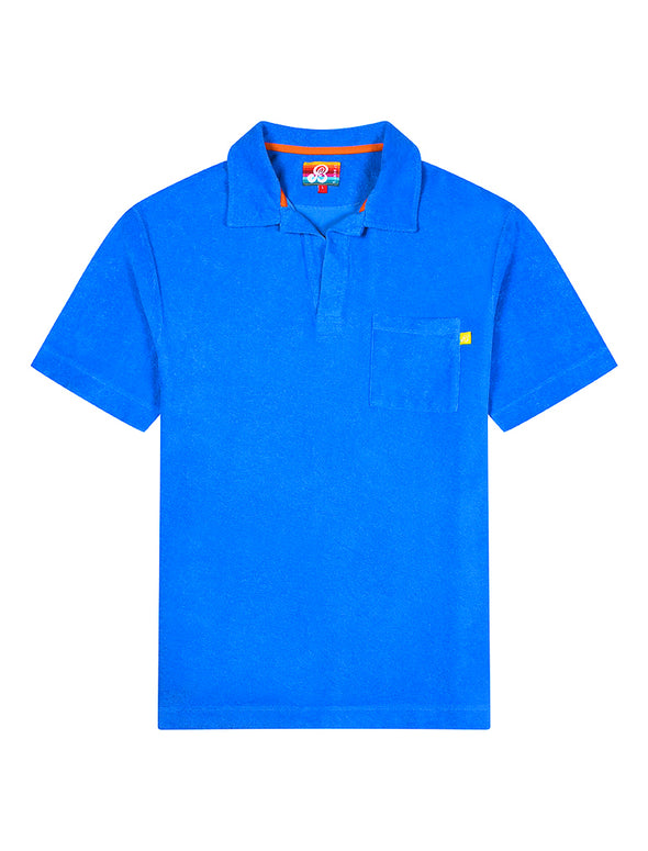 Mens Terry Polo Shirt - Marina Blue