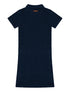 Womens Terry Polo Dress - Dress Blue