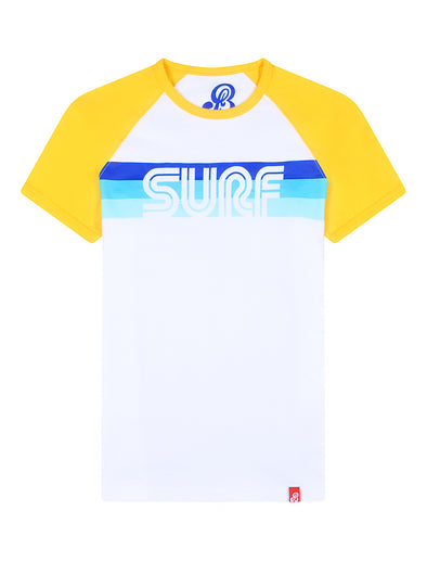 T-Shirt Surf - Optic White/Freesia Yellow