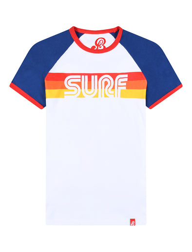 T-Shirt Surf - Optic White/Twilight Blue