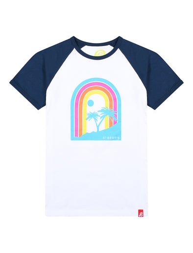 T-Shirt Rainbow Sunset - Optic White/Dress Blue