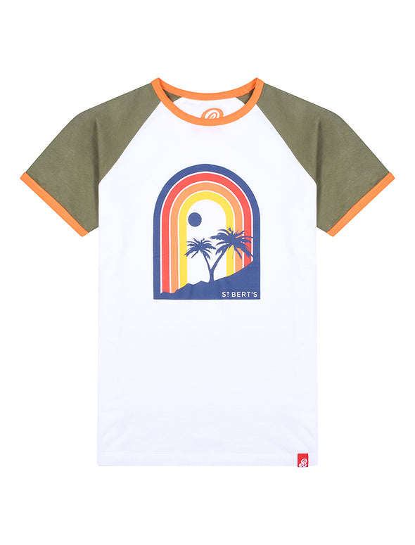 T-Shirt Rainbow Sunset - Optic White/Khaki