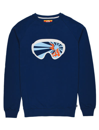 Men's Goggles Sweatshirt - Twilight Blue