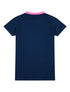 Womens T-Shirt Rainbow Chevron - Dress Blue