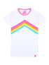 Womens T-Shirt Rainbow Chevron - Optic White