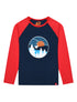 Kids T-Shirt Ski Lift - Dress Blue/Blaze Red