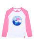 Kids T-Shirt Ski Lift - Optic White/Sachet Pink