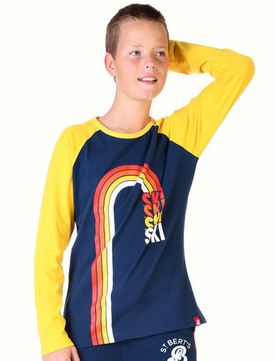 Kids T-Shirt Rainbow Ski - Dress Blue/Optic White