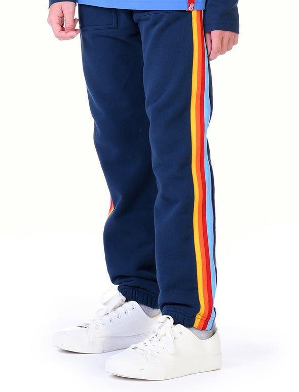 Kids Cinched Rainbow Sweatpants - Dress Blue