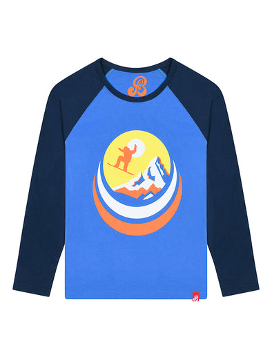 Kids T-Shirt Snowboard - Marina Blue/Dress Blue