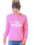 Womens Mountains Sweatshirt - Sachet Pink