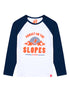 Kids T-Shirt Sunset Slopes - Optic White/Dress Blue