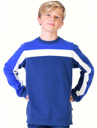 Kids Panel Sweatshirt - Twilight Blue/Dazzling Blue
