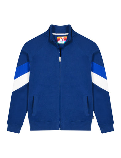 Kids Zip Up Chevron Sweatshirt - Twilight Blue/Dazzling Blue