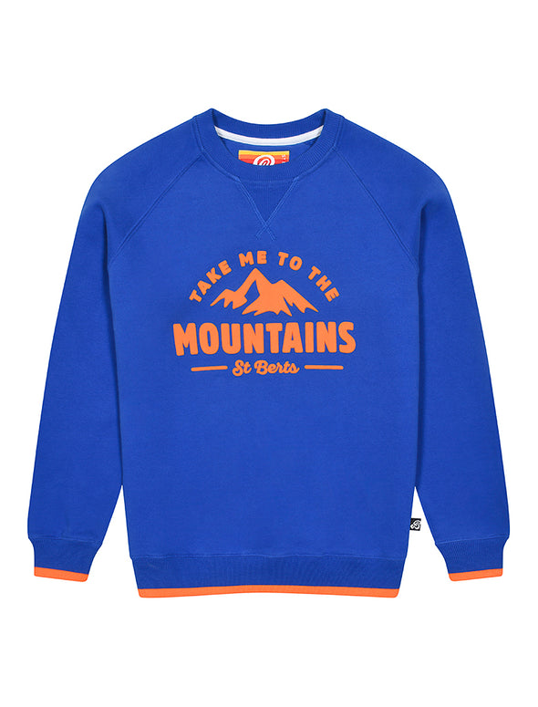 Kids Mountains Sweatshirt - Dazzling Blue