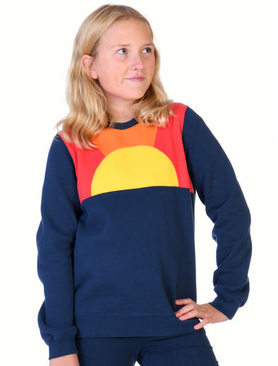 Kids Sunset Panel Sweatshirt - Dress Blue