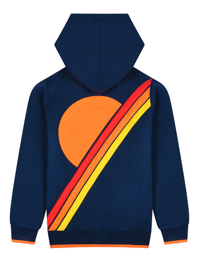 Kids Pullover Hoodie - Sunset - Dress Blue