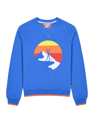 Womens Ski Shadow Sweatshirt - Marina Blue