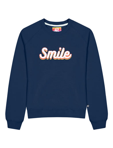 Womens Smile Sweatshirt - Dress Blue