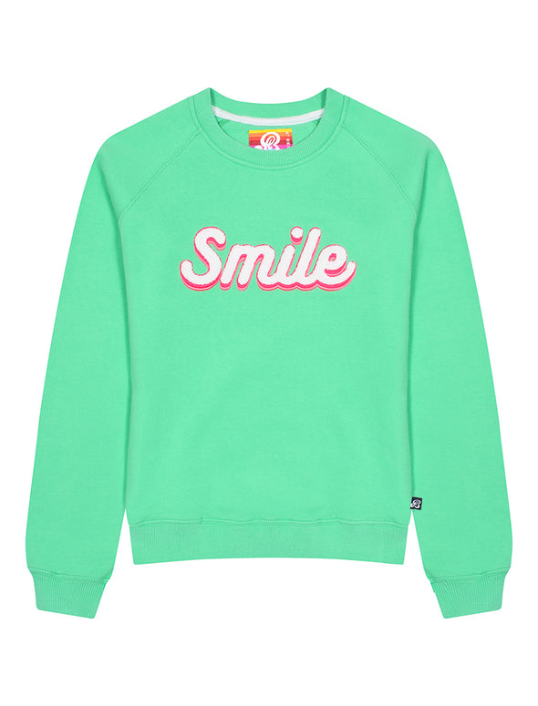 Womens Smile Sweatshirt - Fresh Green