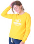 Womens Mountains Sweatshirt - Freesia Yellow