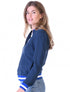 Womens Zip-Up Bomber - Dress Blue