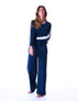Women's Sparkles & Stripes Loungewear Set - Dress Blue
