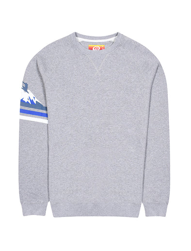 Mens Sleeve Print Sweatshirt - Nimbus Grey
