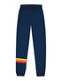 Mens Applique Stripe Sweatpants - Dress Blue