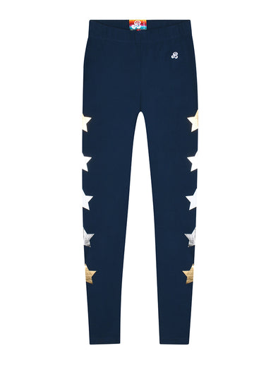 Women's Star Leggings - Dress Blue