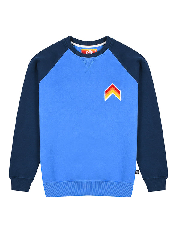 Mens Sweatshirt - Chevron - Marina Blue/Dress Blue