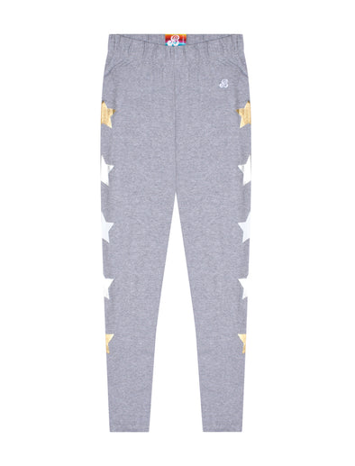 Kids Star Leggings - Nimbus Grey
