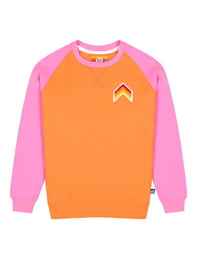 Women's Sweatshirt - Chevron - Vermillion Orange