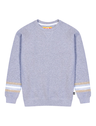 Kids Reverse Stripe Sweatshirt - Nimbus Grey