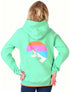 Kids Ski Shadow Hoodie - Fresh Green