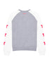 Womens Star Sleeve Sweatshirt - Nimbus Grey/Cloud Dancer