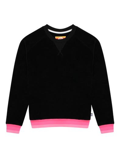 Womens Velour Sweatshirt - Black