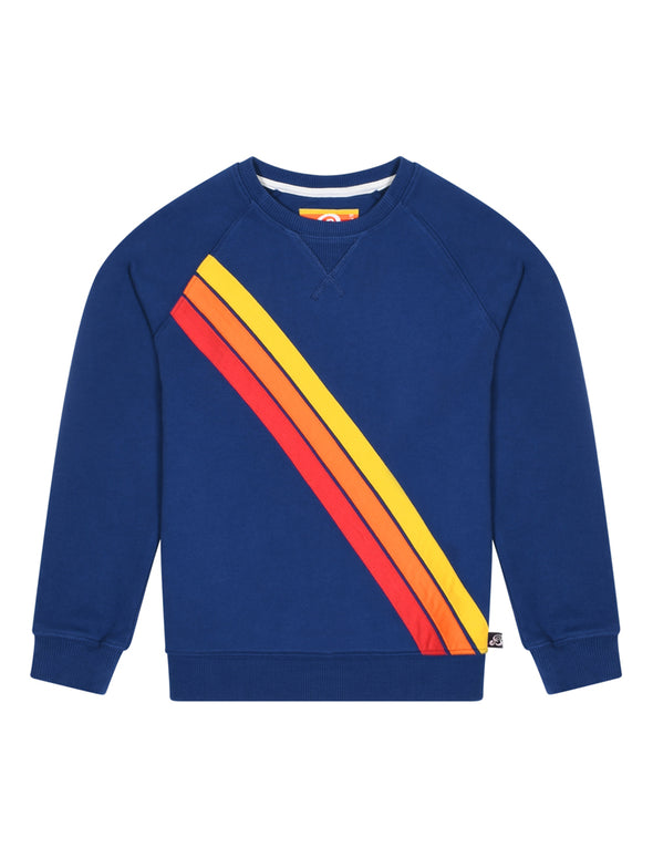 Kid's Front Stripe Sweatshirt - Twilight Blue