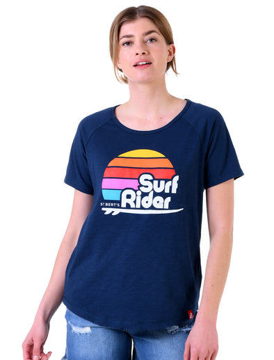 Women's T-Shirt Surf Rider - Dress Blue