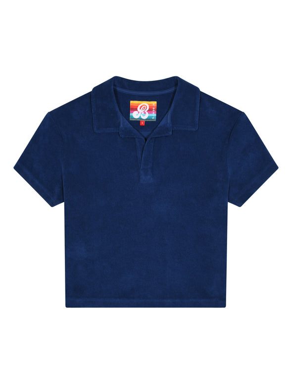 Women's Terry Polo Shirt - Twilight Blue