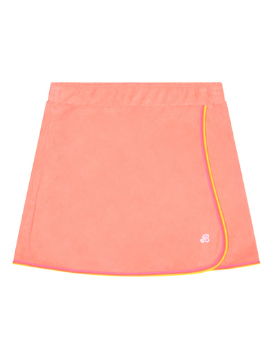Women's Terry Towelling Skirt - Fuzzy Peach