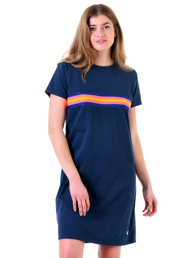 Women's T-Shirt Dress - Dress Blue