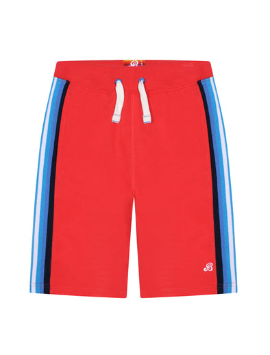 Boy's Side Stripe Shorts - Blaze Red