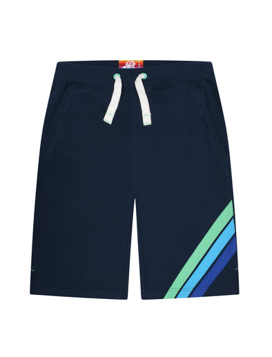 Boy's Front Stripe Shorts - Dress Blue