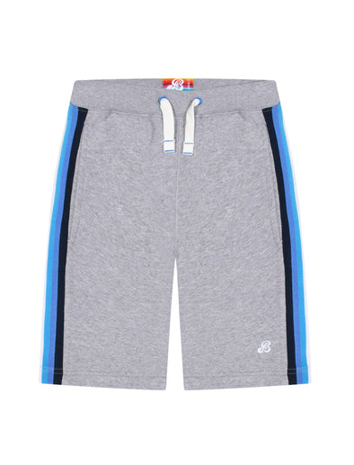 Boy's Side Stripe Shorts - Nimbus Grey