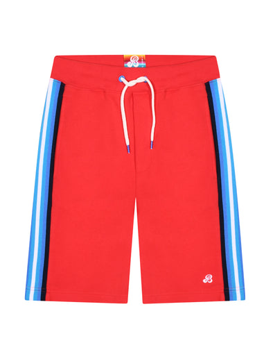 Men's Side Stripe Shorts - Blaze Red